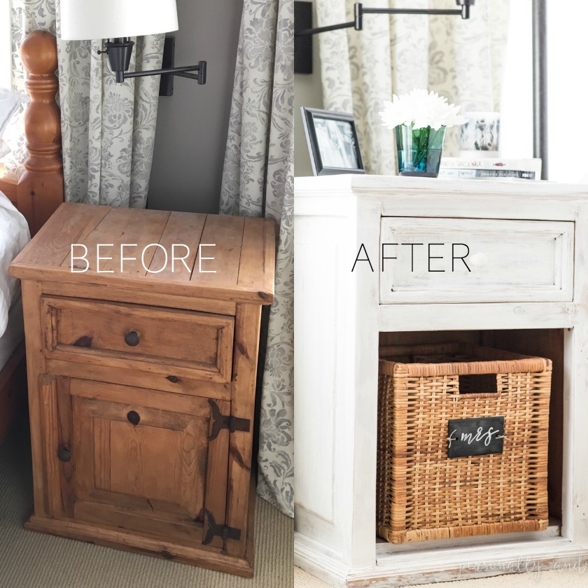 How To Whitewash Dated Pine Bedside Tables With White Chalk Paint For A Fresh Farmhouse Look