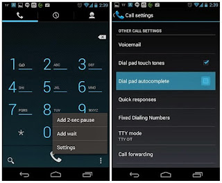 Simple steps to activate the auto-complete button in your dialler on devices running on Android 4.3