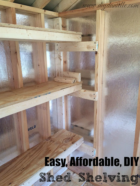 How to build shed shelving: Easy, Affordable and DIY. #woodworking #storage #organization