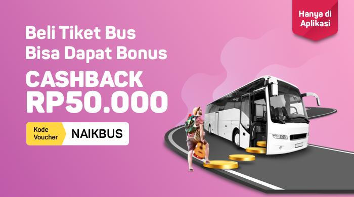 Bukalapak - Voucher Promo Tiket Bus Cashback s.d 50 Ribu (s.d 30 Sept 2018)