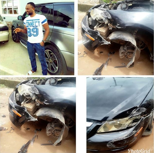 Nollywood Actor Survives Accident Scare, Shares Photos