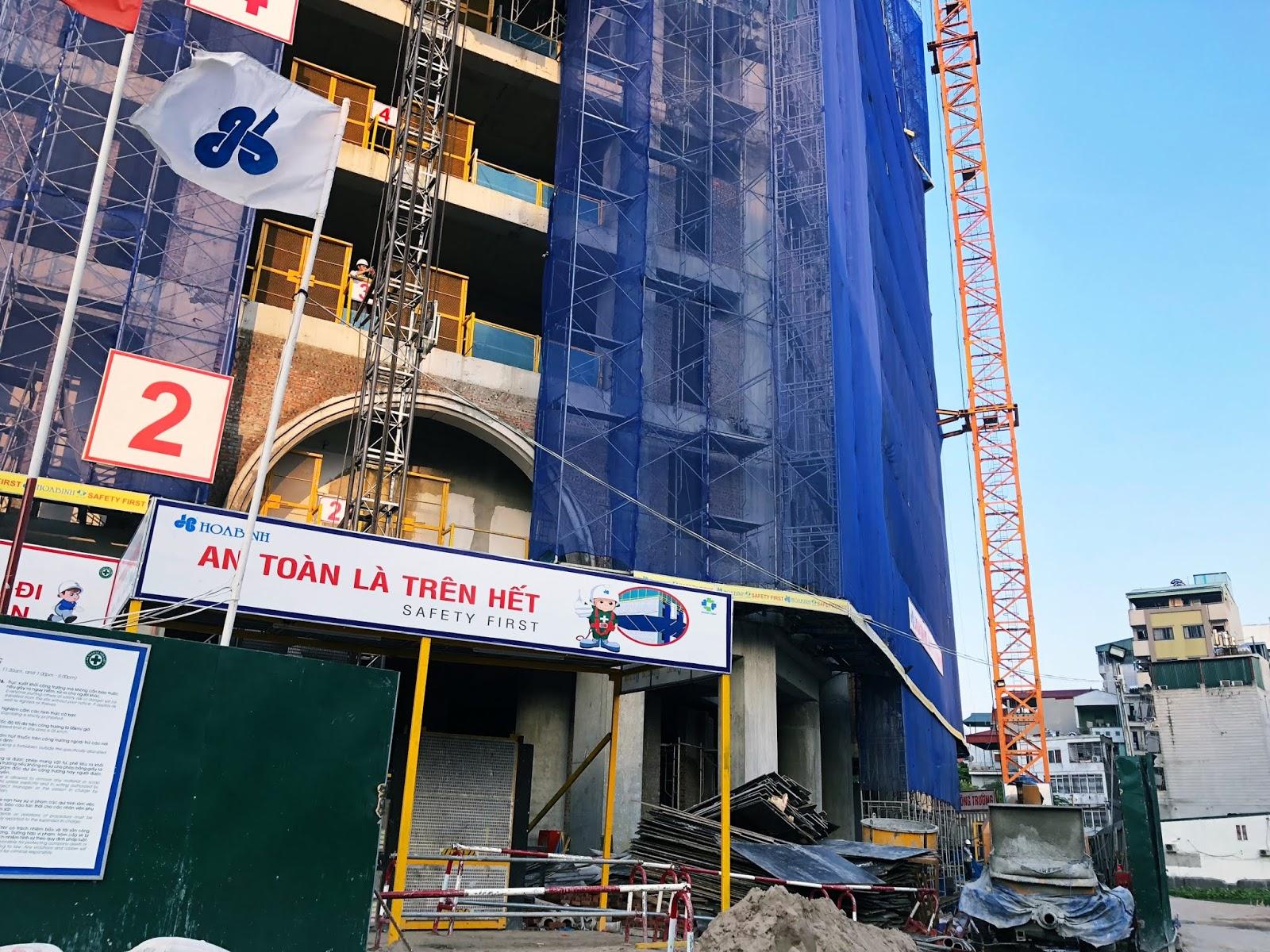 Cập nhật tiến độ xây dựng của toà nhà La Roma - Tháng 8