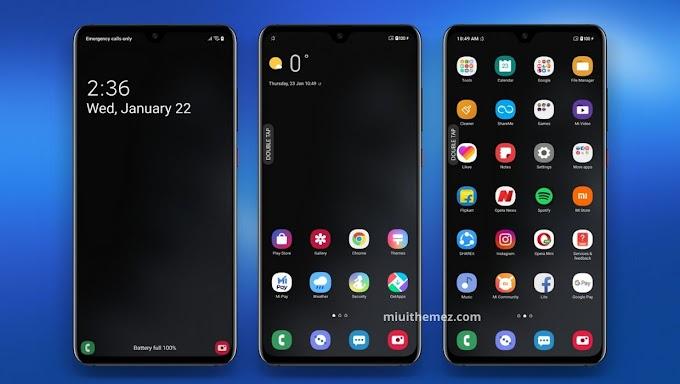 One UI 2.0 Dark MIUI Theme | Samsung Experience with Dark Look
