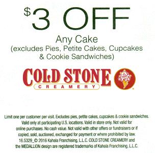 Cold stone printable coupons august 2018