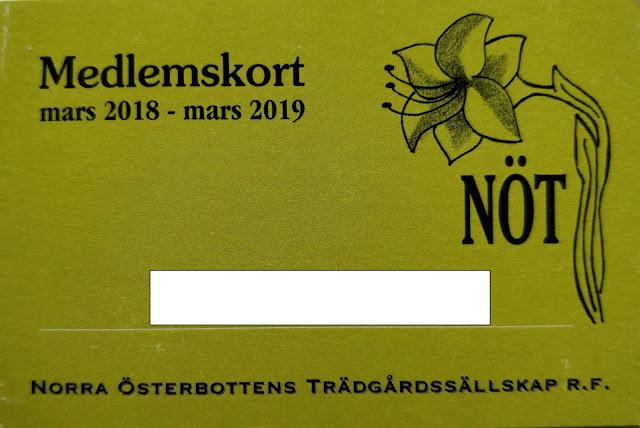 Årets olivgröna NÖT-medlemskort