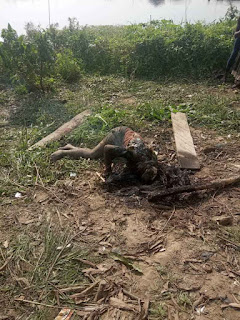 Ritualist Burnt Alive In Yenagoa