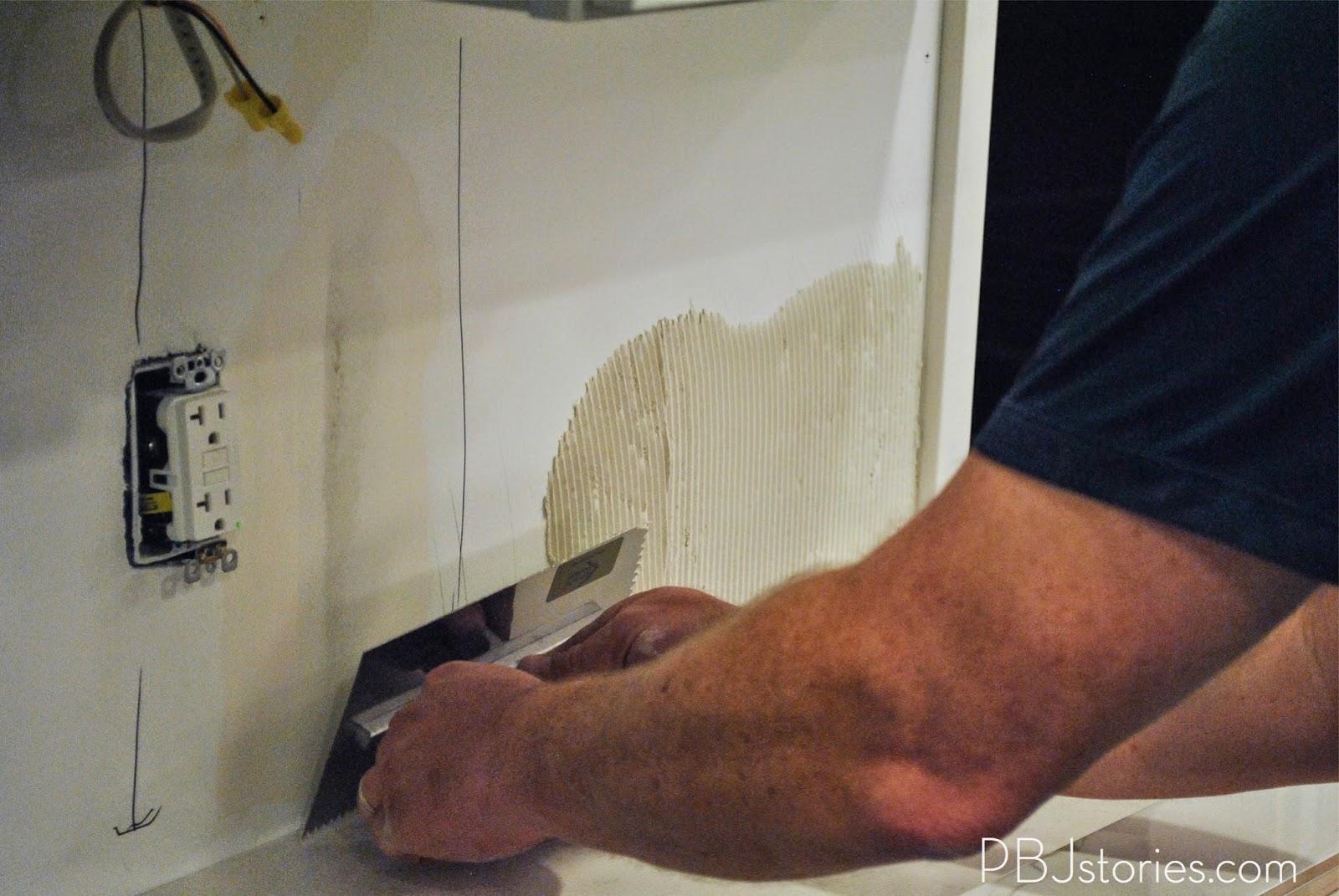 Installing Kitchen Backsplash Tile Sheets