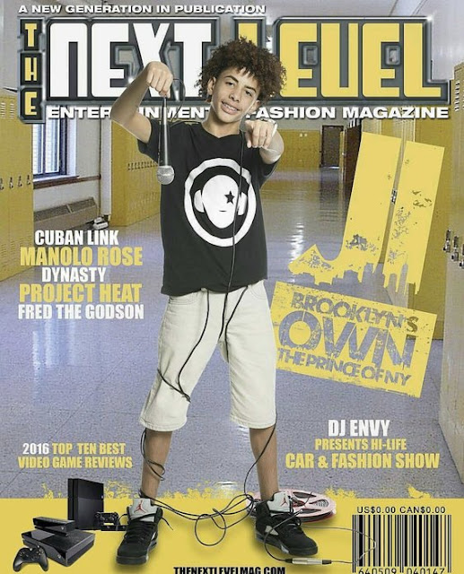 the prince of NY JI Rapper Teen Athlete Active Sports Youth The Next Level magazine cover