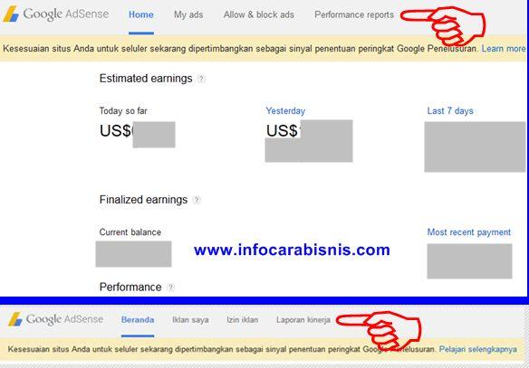 Dasbor Google Adsense