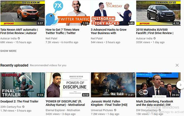 Use personalized YouTube Video Thumbnails: eAskme