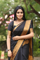 Poorna in Cute Backless Choli Saree Stunning Beauty at Avantika Movie platinum Disc Function ~  Exclusive 110.JPG
