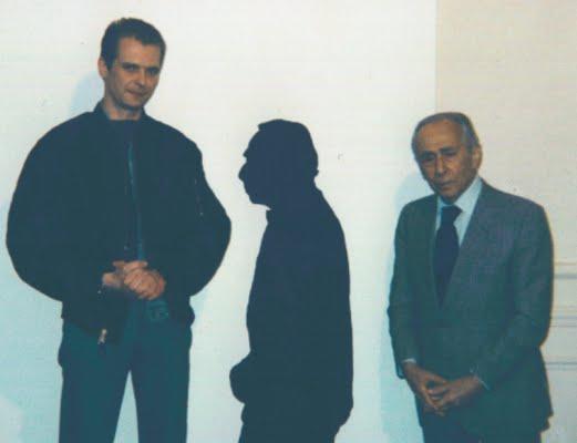 Klaus Guingand  &  Léo Castelli. Guingand studio - 1992 © Muriel Bonel