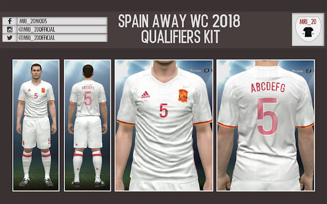 PES 2017 Spain WC 2018 Qualifiers Kit by MRI_20Mods