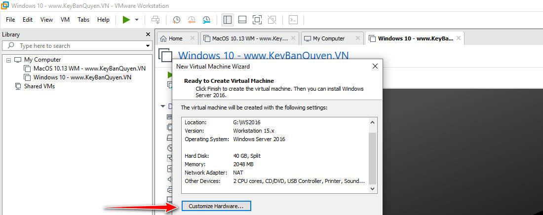 Hướng dẫn tạo máy ảo với VMware Workstation Pro 15