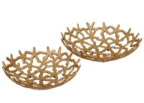 Gold Starfish Bowls