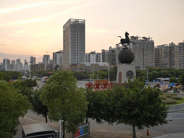 view from Ganzhou Railway Station