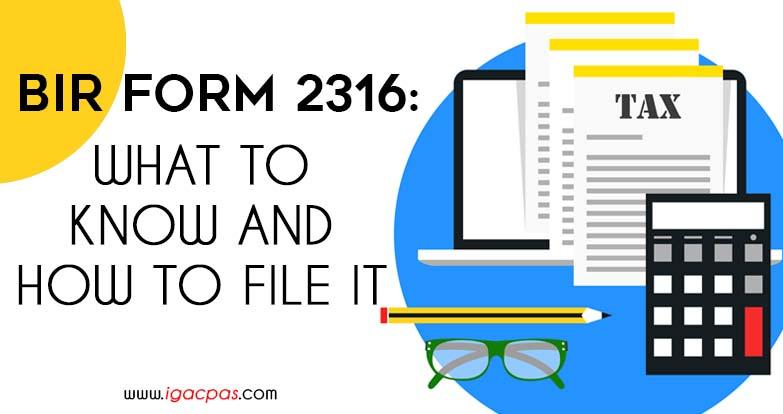 Bir Form 2316 Pdf