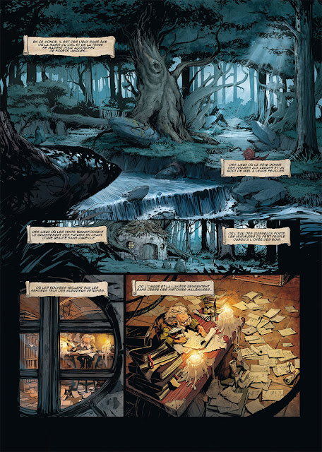 page de Brocéliande, forêt du petit peuple T1 la fontaine de Barenton de Olivier Péru et Bertrand Benoît chez Soleil