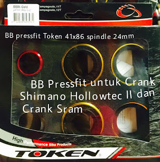 BB Press Fit Token diameter 41mm untuk crank shimano HT2