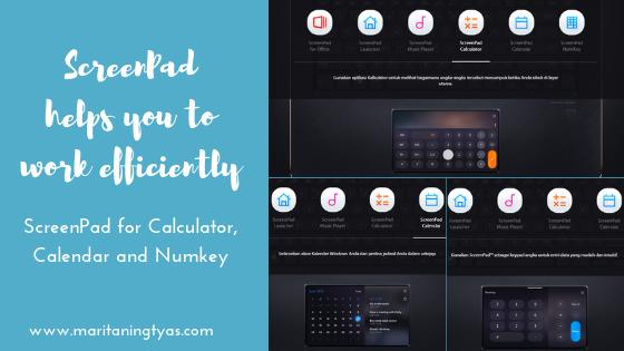 screenpad calendar, calculator and numkey ASUS ZenBook Pro 15 UX580
