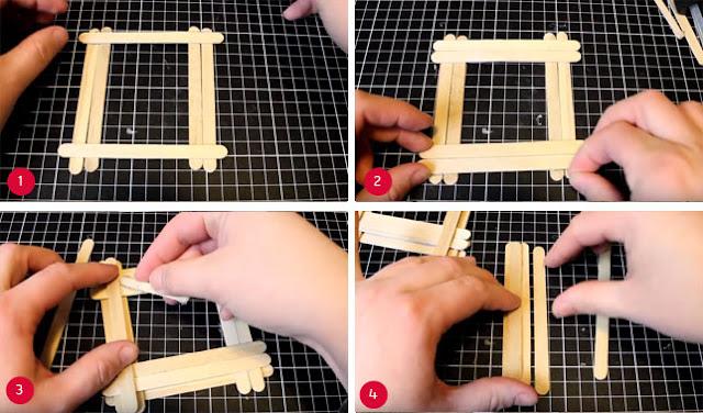 Bingkai Foto Dari Stik Es Krim dan Cara Membuatnya