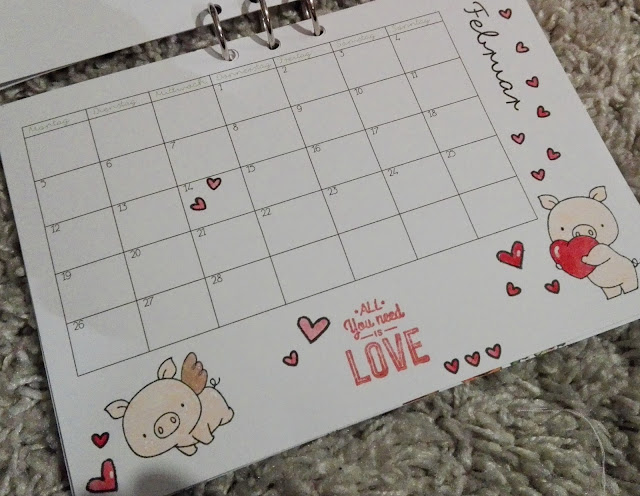 [DIY] Kalender Freebie: Selbstgemachter Kalender mit Stempeln