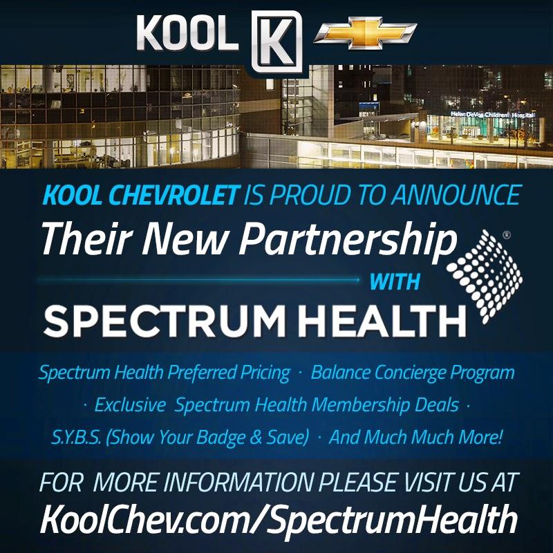 Chevrolet Grand Rapids: Spectrum Health Benefits At Kool Chevrolet