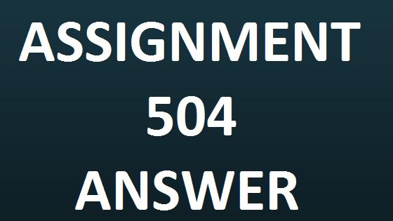 504 answer