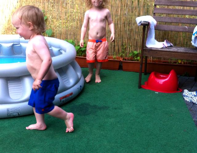 Kugelfisch-Blog: Zwuggel und Wutz im Sommer auf der Terrasse