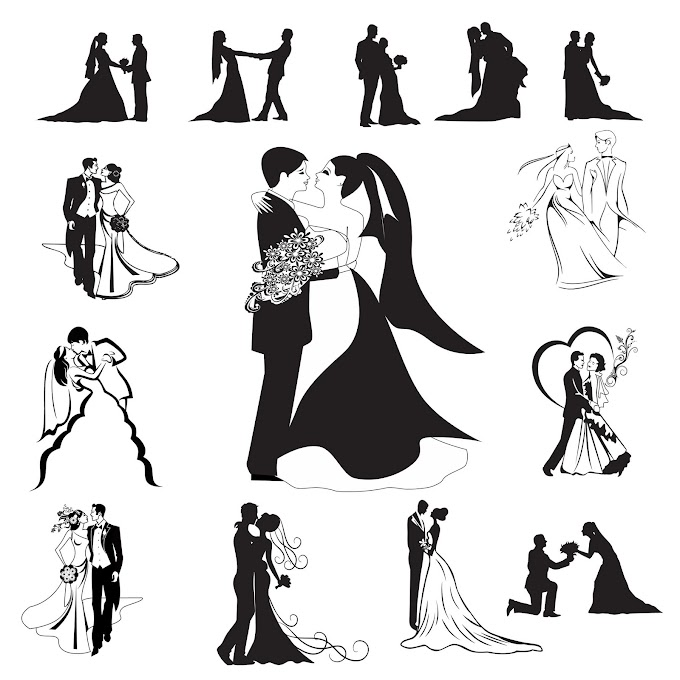 Bride & Groom collection for khmer wedding invitation card free vector