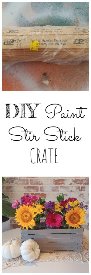 DIY Paint Stir Stick Crate