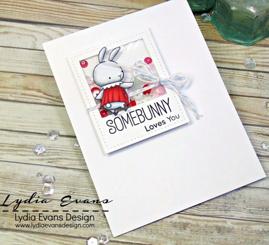 Birdie Brown Somebunny stamp set and Die-namics - Lydia Evans #mftstamps