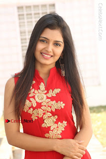 Telugu Actress Priyanka Jain Stills in Red Dress at Amazing Arts Production no 1 Movie Opening  0002.JPG