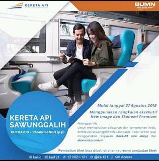 KA Sawunggalih Menggunakan Rangkaian Eksekutif New Image
