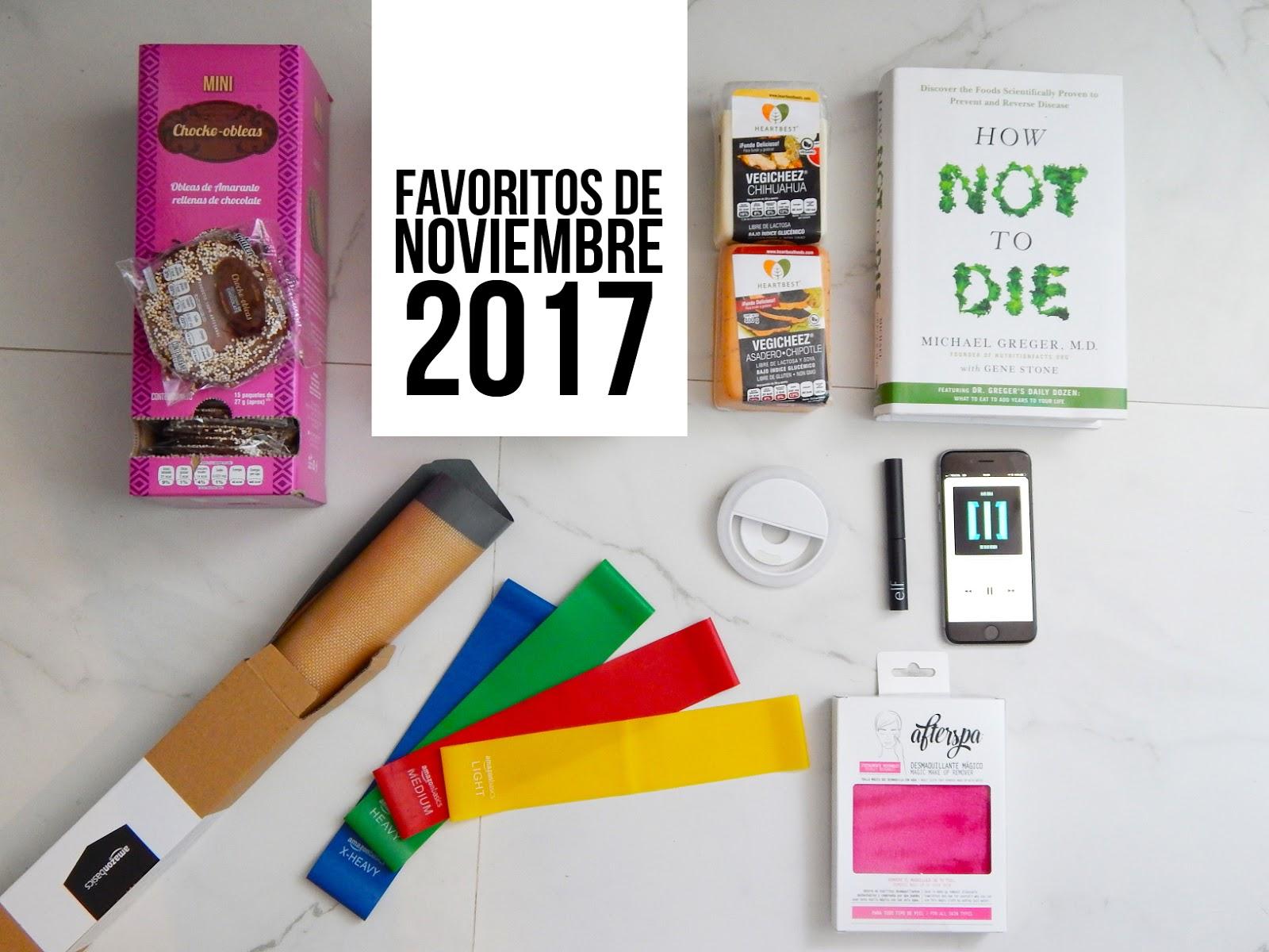FAVORITOS DE NOVIEMBRE 2017