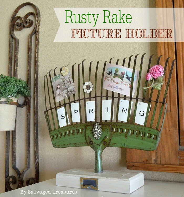 Repurposed rusty rake