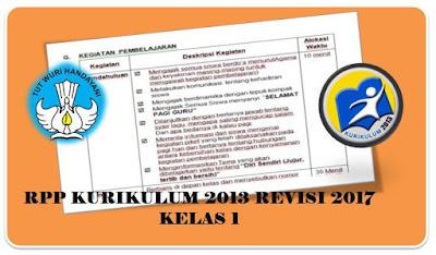 Download RPP Kurikulum 2013 Revisi 2017 Kelas 1 Format Terbaru