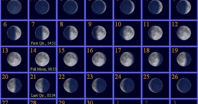 Get Printable Calendar : November 2016 Moon Phases Calendar