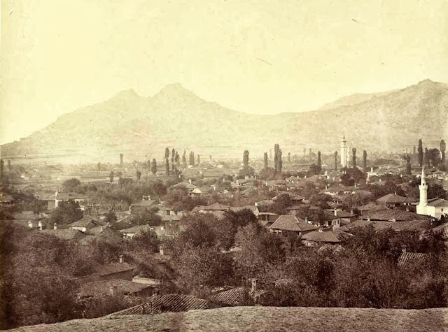 Prilep the fortress of King Marko%2C taken after sunset October 1863 - Macedonia in 1863 - Photo Collection of Josef Székely