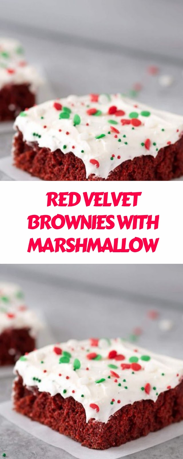 RED VELVET BROWNIES WITH MARSHMALLOW