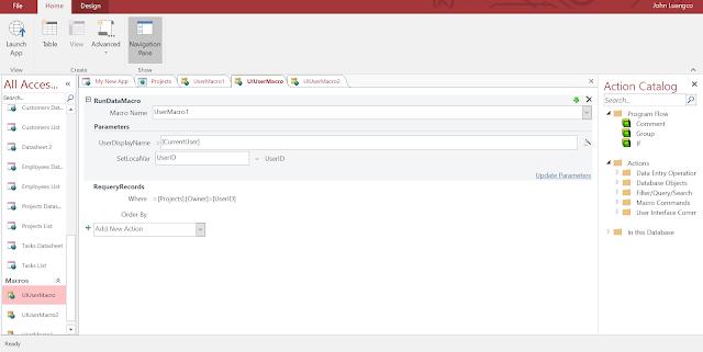 Configure UI Macro