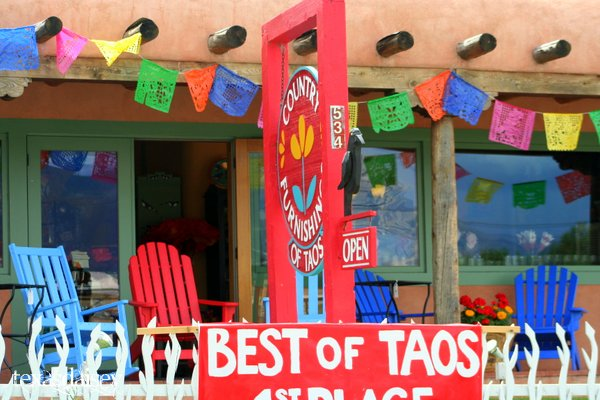 Colorful Store Front Taos New Mexico