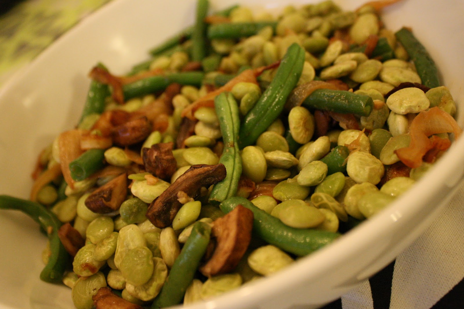 52 Mantels Sauteed Lima Beans And Green Beans With