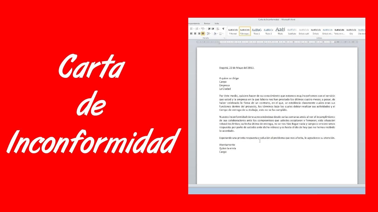 Carta para reclamar a empresas - Reclamaciones Personalizadas