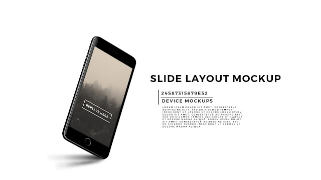 Perspective iPhone 7 Slide Mockup PowerPoint Template
