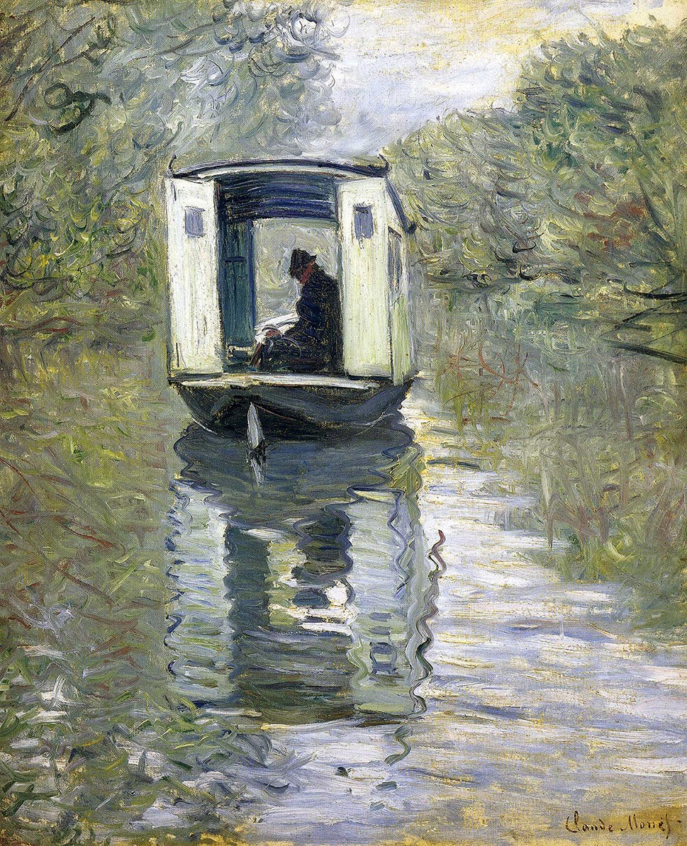 Claude Monet, El barco-taller (1876), Barnes Foundation, Merion, Pennsylvania