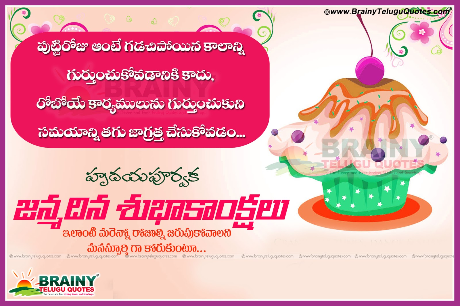 Happy Birthday Wishes in Telugu with nice Quotations – Telugu Birthday Greetings