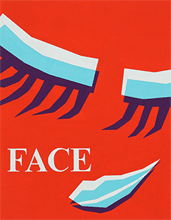 多摩美術大学グラフィックデザイン学科色彩構成合格再現作品face