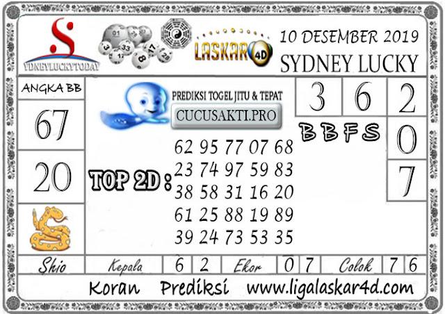 Prediksi Sydney Lucky Today LASKAR4D 10 DESEMBER 2019