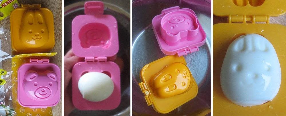 Zubereitung japanische Eier Bento mit dem Eiformer, Ei-Former, Eier-Former, egg molds